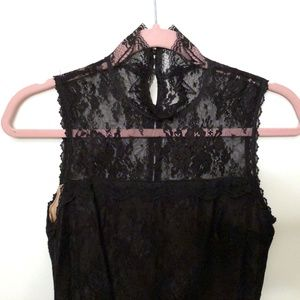 Jessica McClintock Black Lace dress size 8.